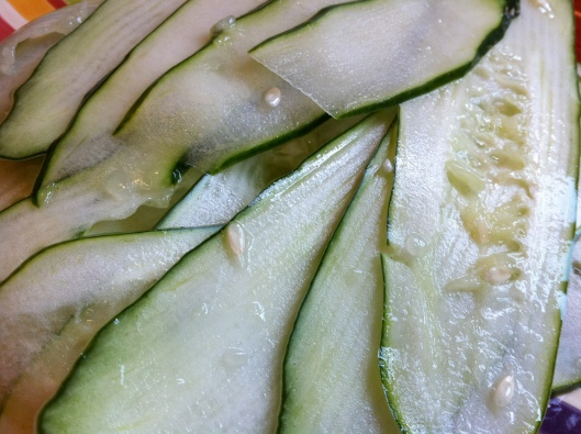 Cucumber Through the Mandolin