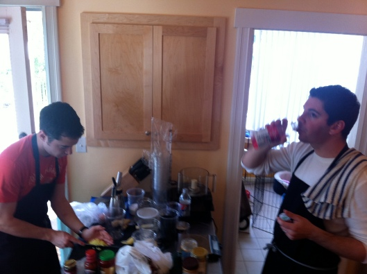 Eric And Scott Cooking Up A Feast