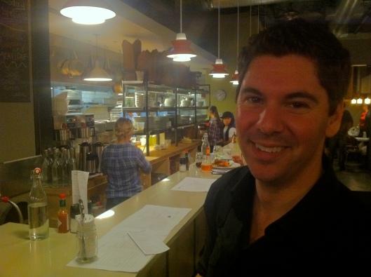 Scott, the big TV star, at the Skillet Diner