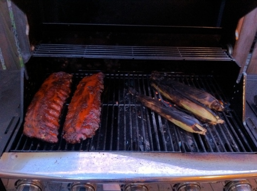 Ribs-n-Cobs On The Barbie