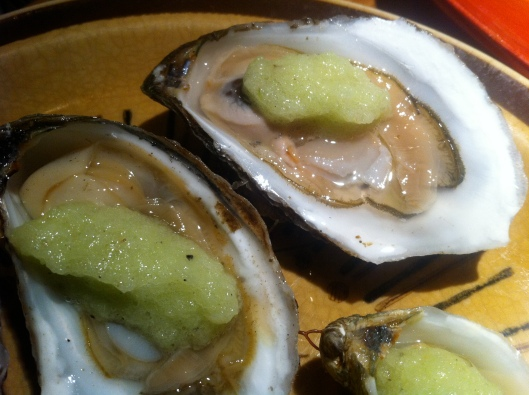 Oysters with Cucumber