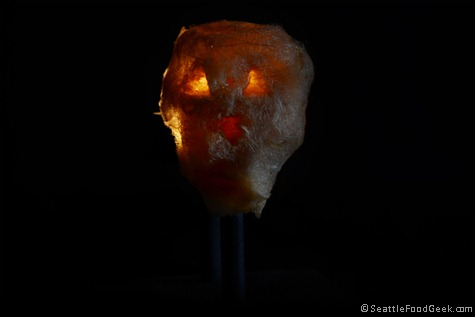 pumpkin cotton candy jack-o-lantern