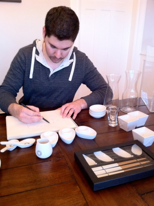 Scott Sketching Out A Meal