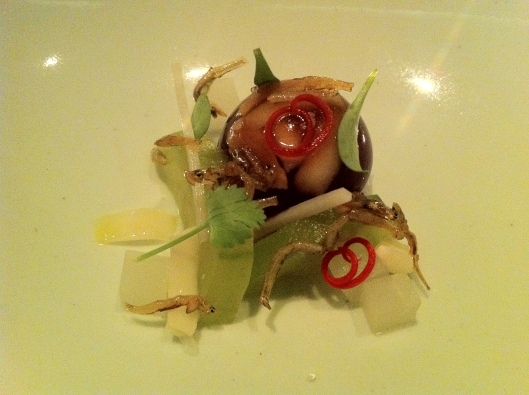 Caramelized Anchovy, Lilly Bulb, Peanut, Pickles