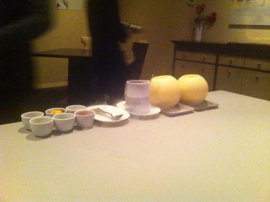 White Chocolate, strawberry, english pea, lemon