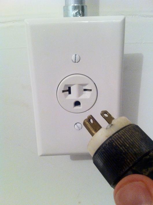 240V outlet
