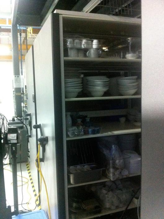 Hand Cranked Rolling Shelves