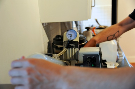 Adjusting the Rotary Evaporator