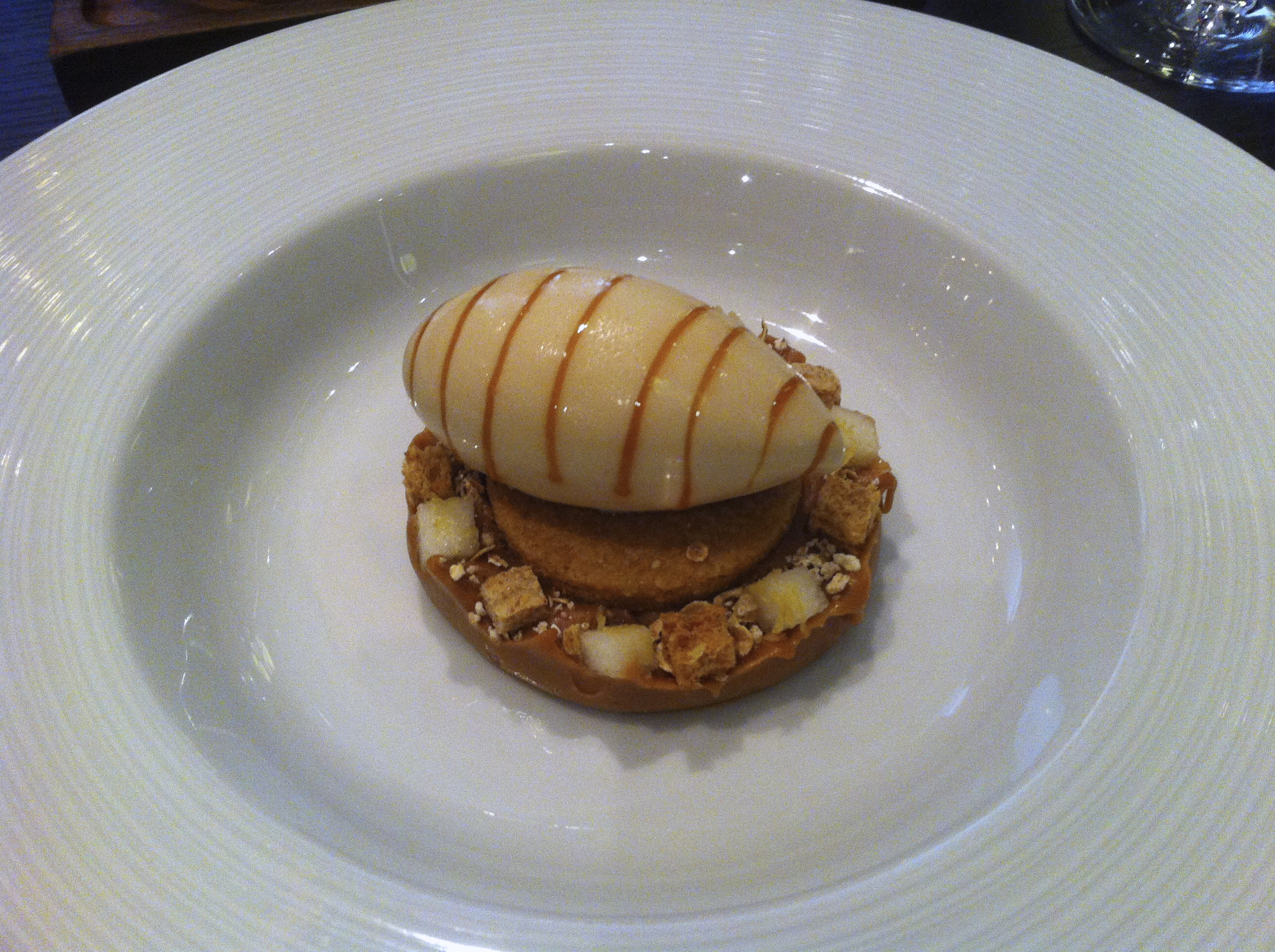 Brown Bread Ice Cream (c.1830) Salted butter caramel, pear & malted ...