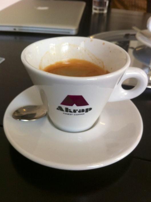 Akrap, that's good coffee