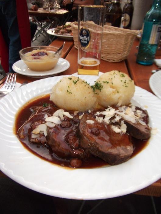 Sauerbraten and Kartoffelklöße