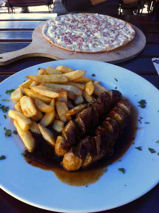 Currywurst and Flammkuchen