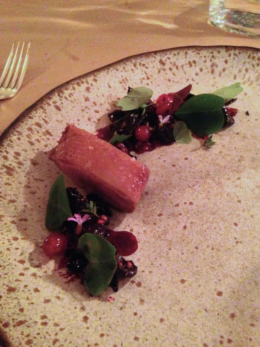 Dry Aged Duck With Beets Glazed In Red Currants