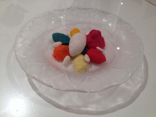 Plasticine Food Models